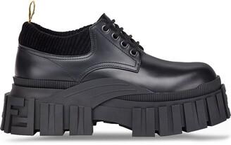 Fendi Platform Lace-Up Shoes
