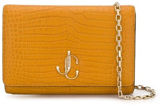 Jimmy Choo Varenne crocodile-embossed clutch