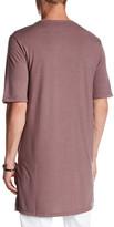 Topman Super Longline Crewneck T-Shirt