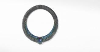 David Yurman Tempo Peacock Necklace With Iolite, Hampton Blue Topaz,