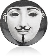 "Fornasetti Mask With Moustache"" Porcelain Plate"