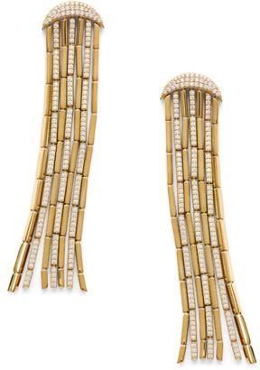 Adriana Orsini 18K Goldplated & Diamond Fringe Earrings
