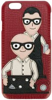 Dolce & Gabbana Designers patch iPhone 6 case - men - Leather/plastic - One Size