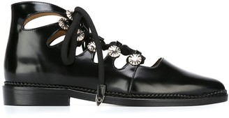 Toga Pulla Cut-Out Lace-Up Ankle Boots