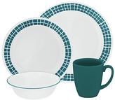 Corelle Aqua Tiles 16 Piece Dinner Set