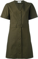 Courreges v-neck shirt dress