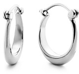 Shinola Sterling Silver Small Crescent Dome Hoop Earrings