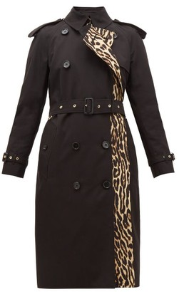 Burberry Bridstow Leopard-print Cotton Trench Coat - Womens - Leopard