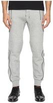 The Kooples Sport Fleece Sweatpants with Zippers Men's Casual Pants