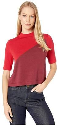 BCBGeneration Short Sleeve Pullover Sweater (Deep Red) Women's Sweater
