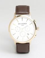 Ben Sherman Chronograph Leather Strap Watch