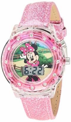 Disney Girls' Quartz Watch with Patent Leather Strap