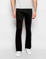 Lee Jeans Trenton Stretch Slim Bootcut Fit Clean Black