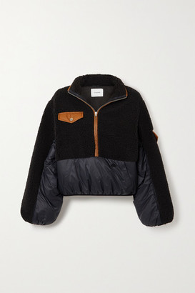 Frame Fleece And Padded Shell Jacket - Black