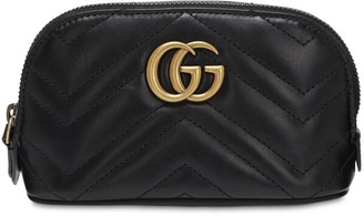 Gucci Small Gg Marmont Leather Beauty Bag