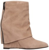 The Seller High Heels Ankle Boots In Powder Suede