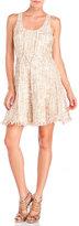 Jay Godfrey Sleeveless Tweed Fit & Flare Dress