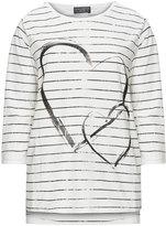 Via Appia Plus Size Heart print striped top
