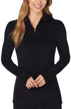 Cuddl Duds Fleecewear With Stretch Long-Sleeve Half-Zip Hoodie