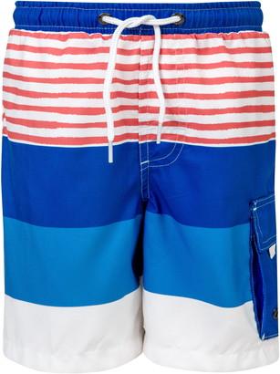 Snapper Rock Sail Stripe Swim Trunks