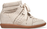 Isabel Marant Bobby Suede Wedge Sneakers - FR41