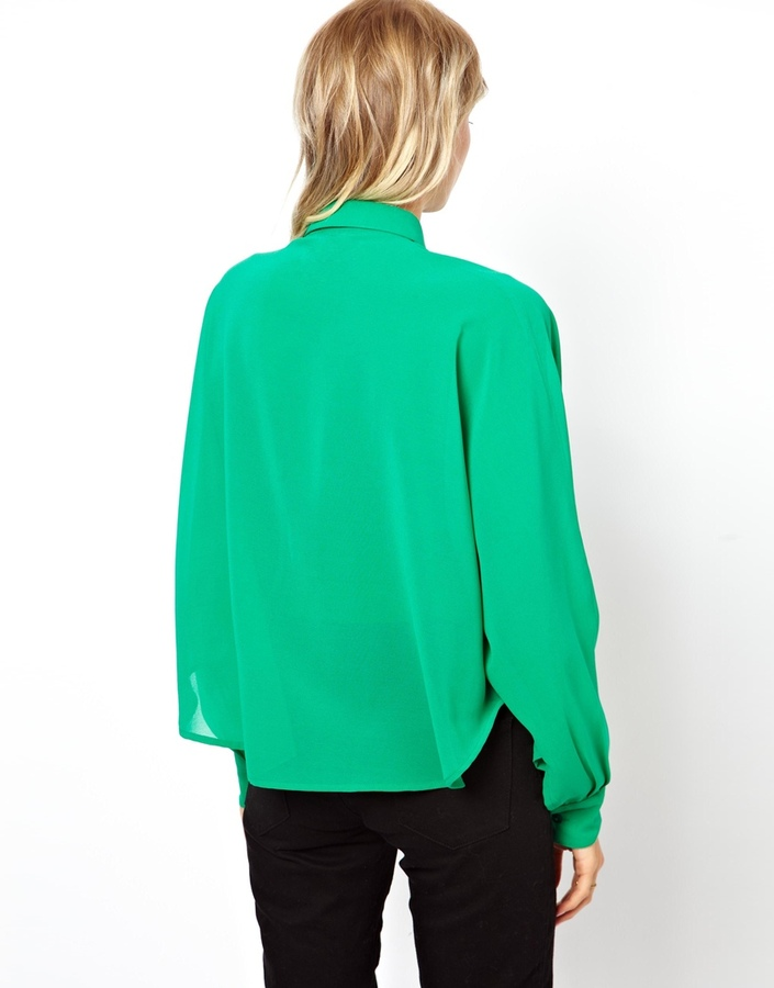 Asos Swing Blouse With Cape Sleeve