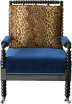 Barclay Butera Bobine Spindle Chair, Leopard/Blue