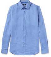 HUGO BOSS Garment-Washed Linen Shirt