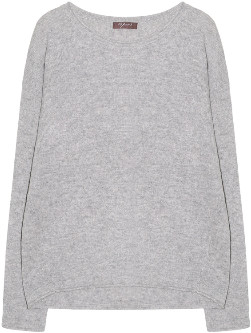 Melange Home 10per3 - Light Gray Cashmere Round Neck Long Sleeve Sweater - Light Gray | xs