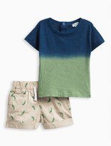 Splendid Baby Boy Dip Dye Top and Printed Short Set