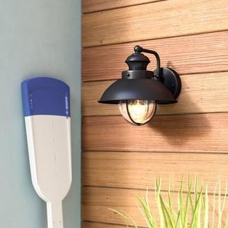 Beachcrest Home Archibald Outdoor Barn Light Fixture Finish: Textured Black
