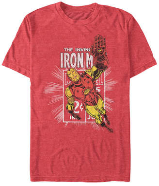Marvel Men Comic Collection Classic Iron Man Short Sleeve T-Shirt