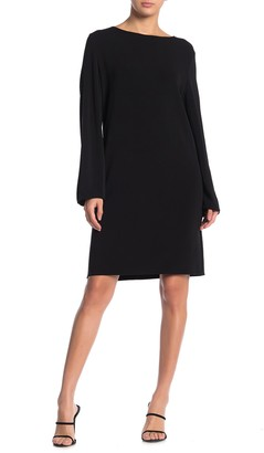 Jarbo Long Sleeve Solid Cocktail Dress