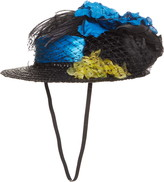 Anna Sui Straw Boater Hat