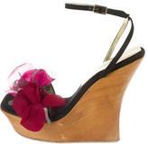 Dolce & Gabbana Satin Floral Wedges