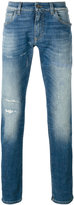 Dolce & Gabbana distressed front jeans - men - Cotton/Spandex/Elastane - 54