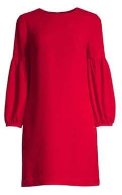 Trina Turk Women's Cocktail Passion 2 Peasant Sleeve Shift Dress - Ruby Rose - Size 2