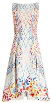 Peter Pilotto Abstract-print boat-neck sleeveless cady dress