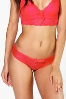 Boohoo Gracie Lace French Knicker