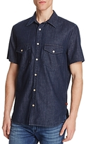 7 For All Mankind Denim Regular Fit Button-Down Shirt