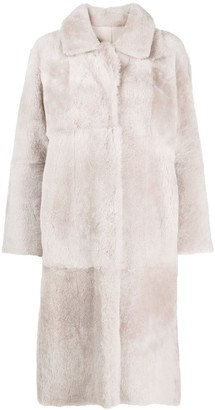 Arma Fur-Trim Single-Breasted Coat