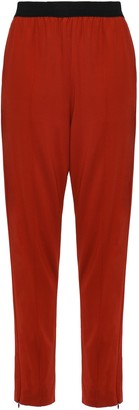 By Malene Birger Gathered Crepe-jersey Tapered Pants