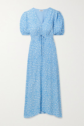 Rixo Staci Floral-print Crepe Midi Dress - Blue