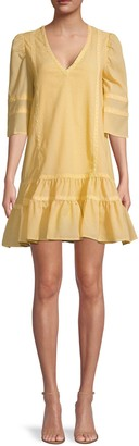 Lucca Lace-Inset Mini Dress