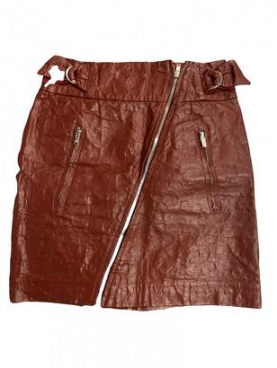 Isabel Marant Burgundy Leather Skirt for Women