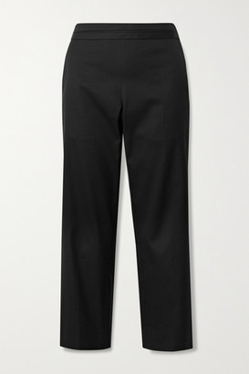 The Row Henry Cropped Cotton-twill Straight-leg Pants - Black