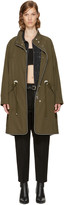 Alexander Wang Green Oversized Ball Chain Parka