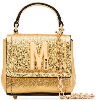 Moschino Logo-Embellished Metallic Mini Bag