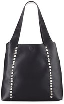 French Connection Del Pebbled Whipstitch Tote Bag, Black