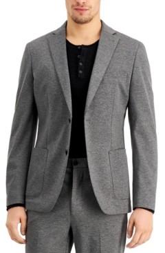 Calvin Klein Men's Extreme Slim-Fit Stretch Gray Suit Jacket